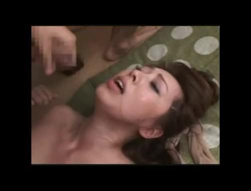 風間ゆみ ムチムチ巨乳な美熟女が2人掛かりで犯される3P調教セックス。連続顔射で精子まみれのアクメ昇天。